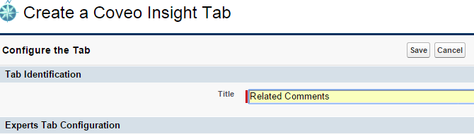 Create a Coveo Insight Tab