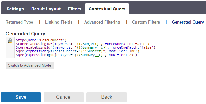 Generated Contextual Query